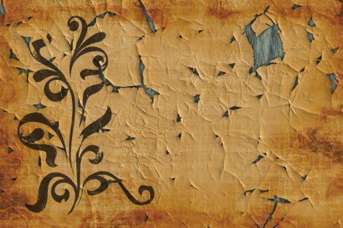 Worn out parchment paper