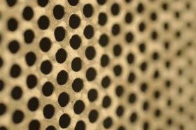 Old brass metal screen mesh texture background