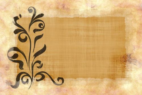 old parchment paper texture with floral design