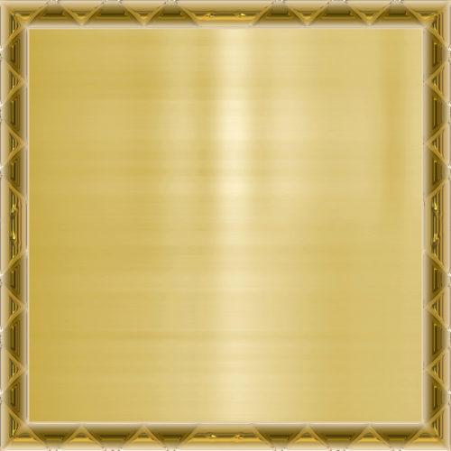 gold metal background in frame