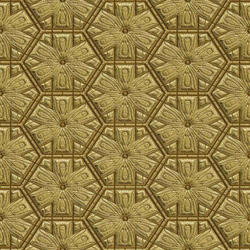 background image of patterned gold metal