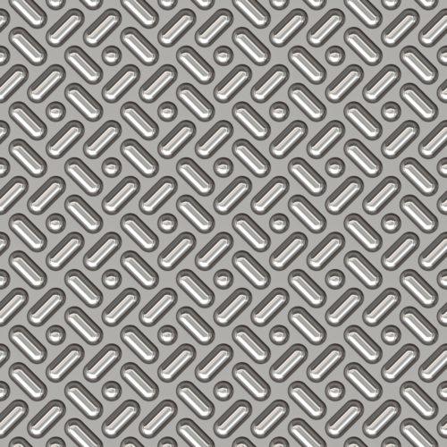 seamless silver diamond plate metal background