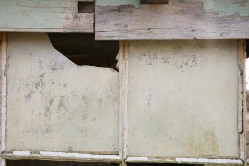 old dirty broken window glass background