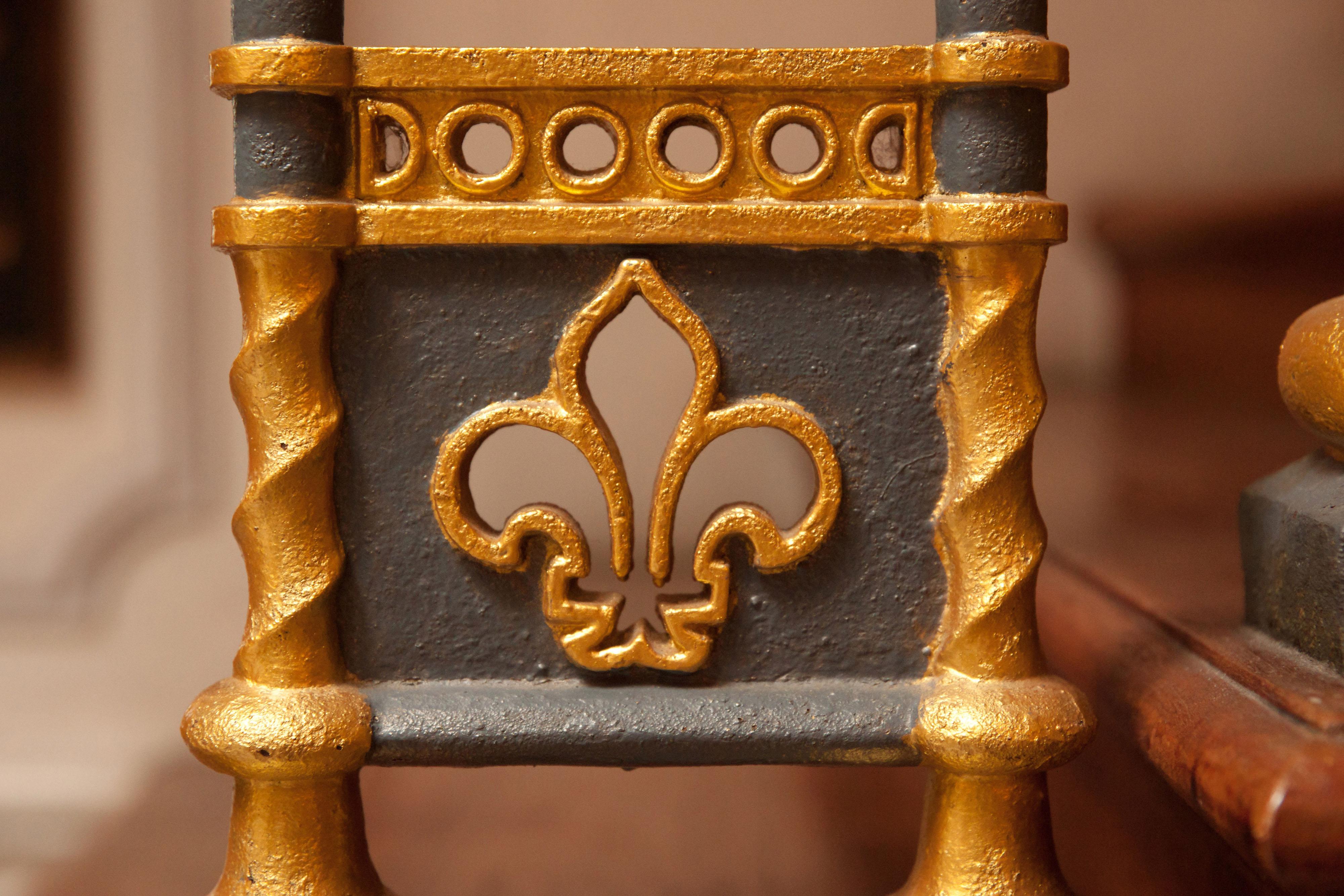 closeup of iron fleur-de-lis