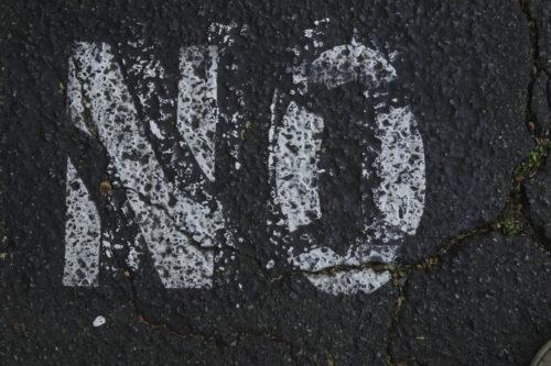 no written on the bitumen road