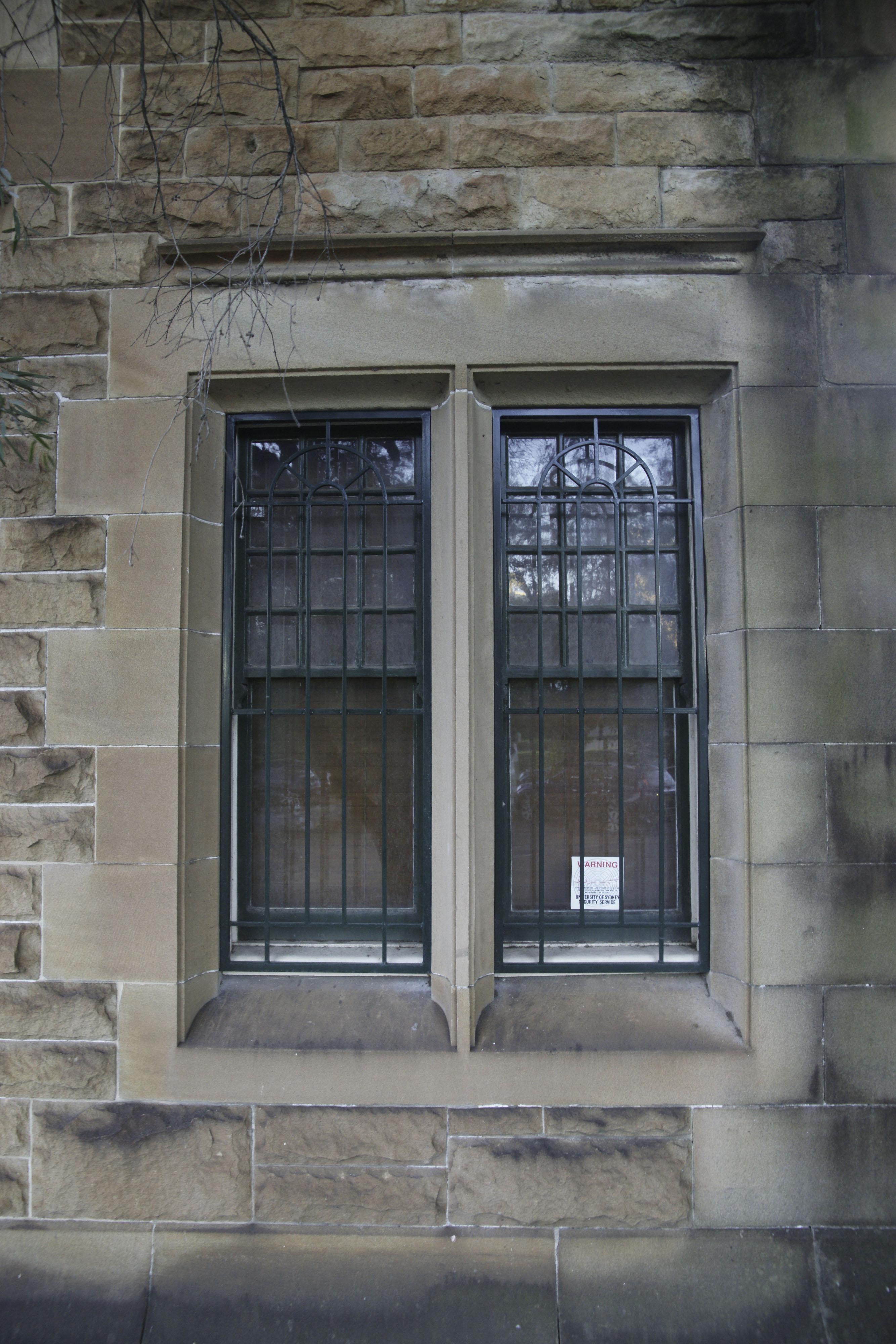 Barred Window In Brick Wall Background Texture Www