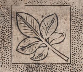 leaf design in concrete texture