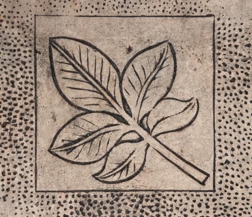 leaf design in concrete background