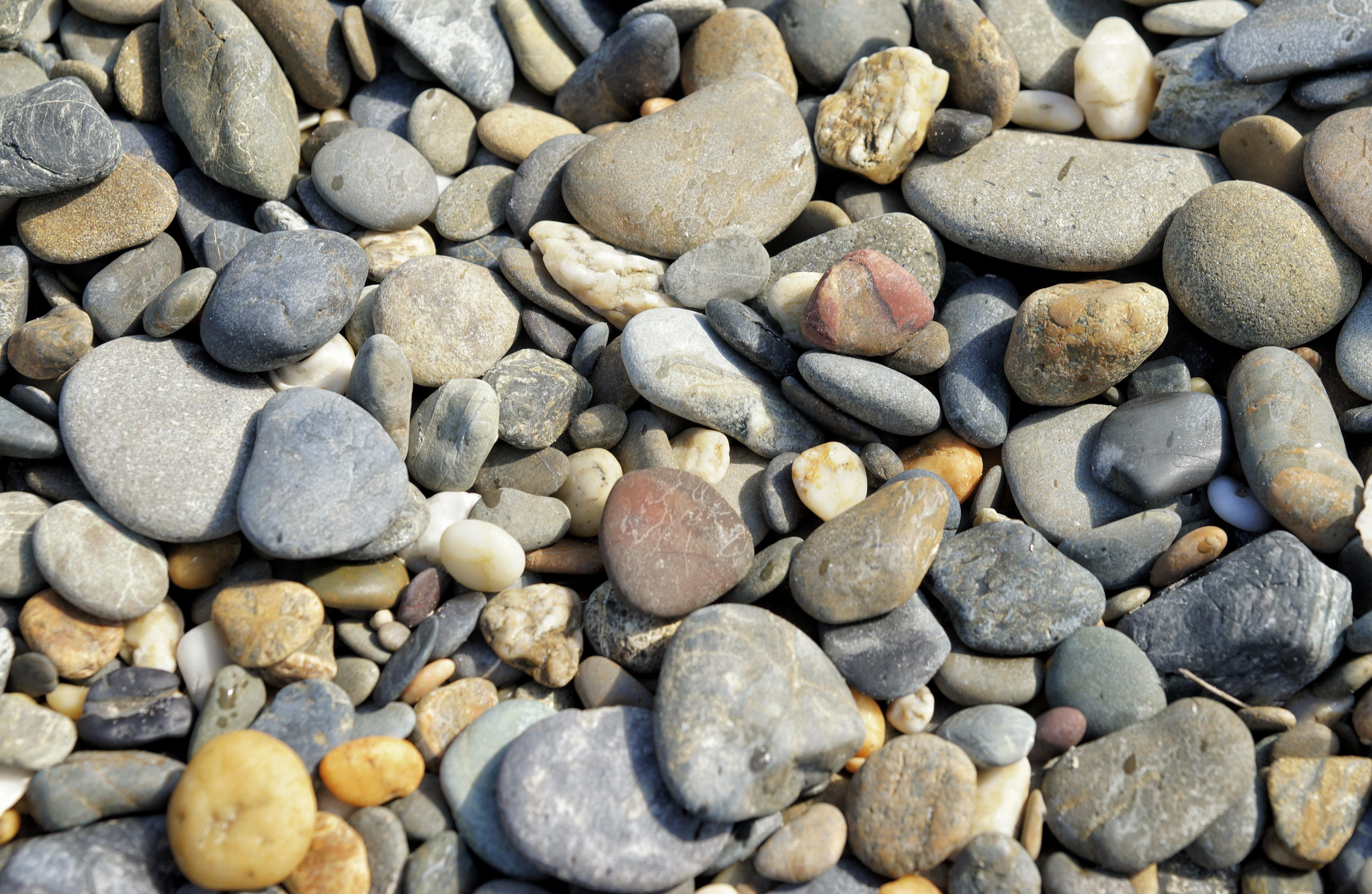 Beach Stones Background Texture Image