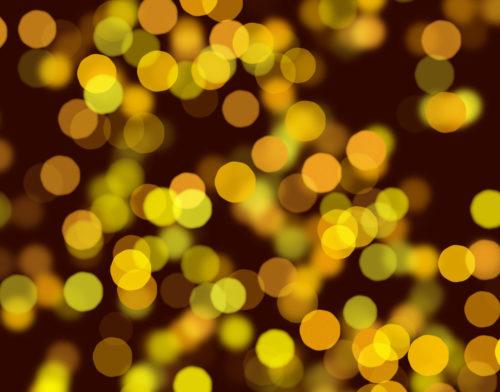 great bright yellow bokeh circles background image