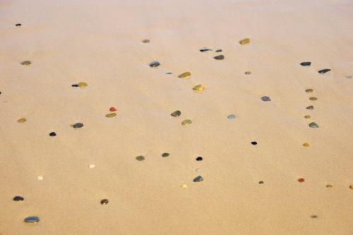 more rocks on beach