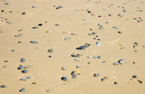 small rocks on beach