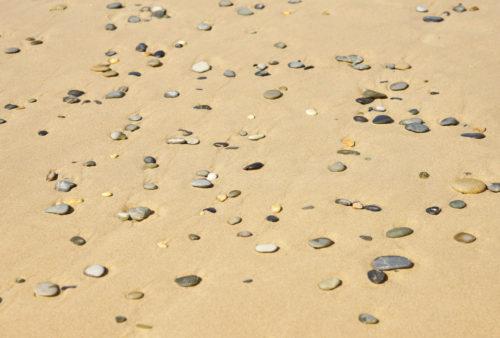 small stones on beach