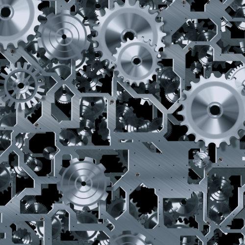 steel metal cogs and gears