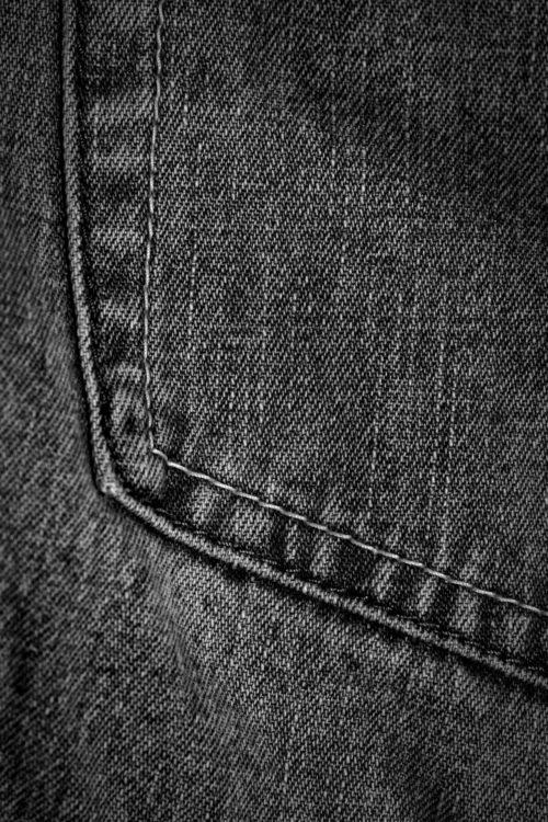 black denim jeans pocket texture