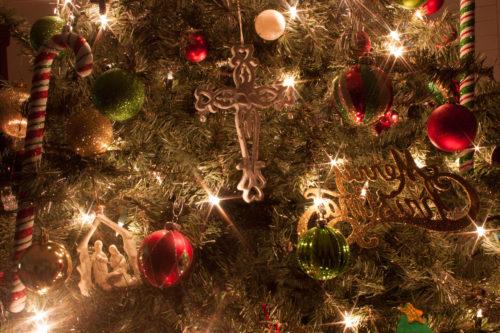 another christmas tree closeup image