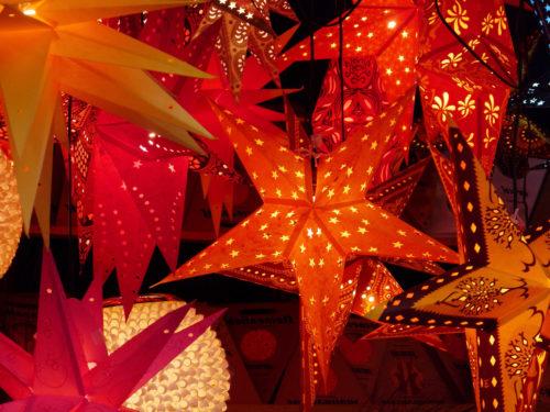 big christmas stars in market