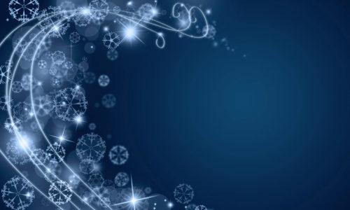 blue abstract christmas swirl