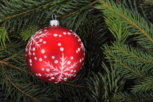 christmas ball on tree decoration free background image