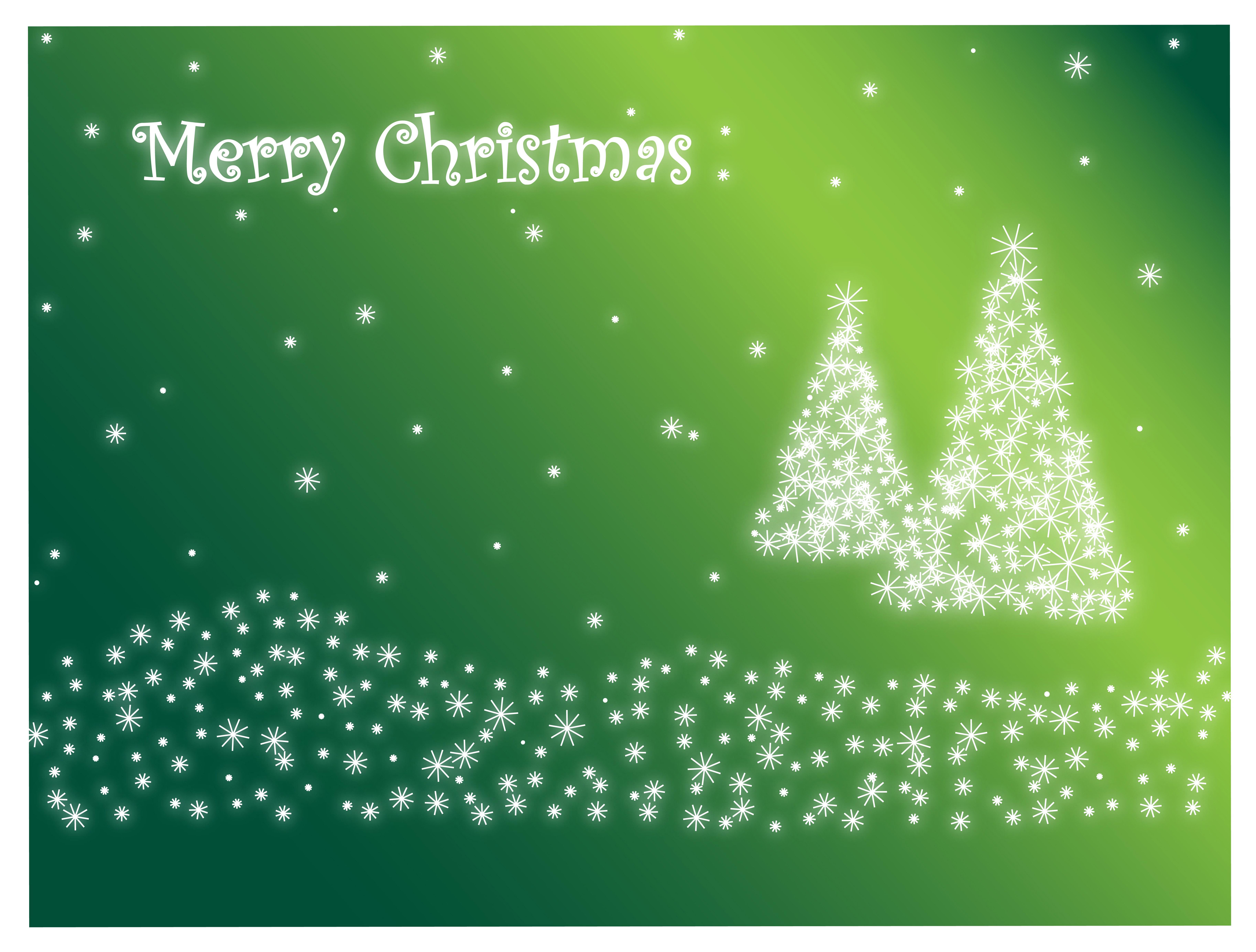 christmas card green