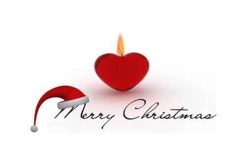 christmas card white