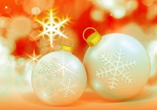 christmas ornament background scene