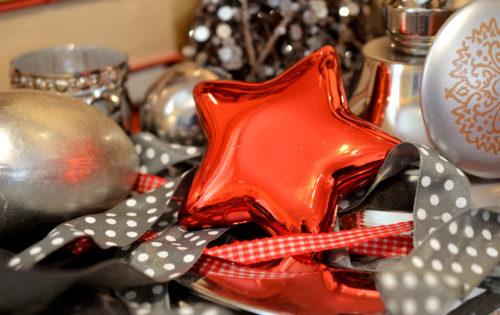 christmas star and ornaments image