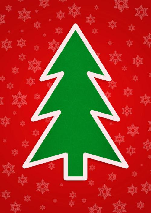 christmas tree card graphic