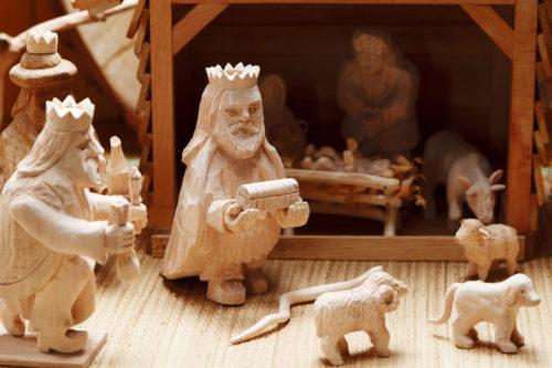 closeup nativity scene
