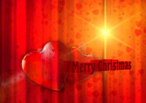 heart and star christmas card