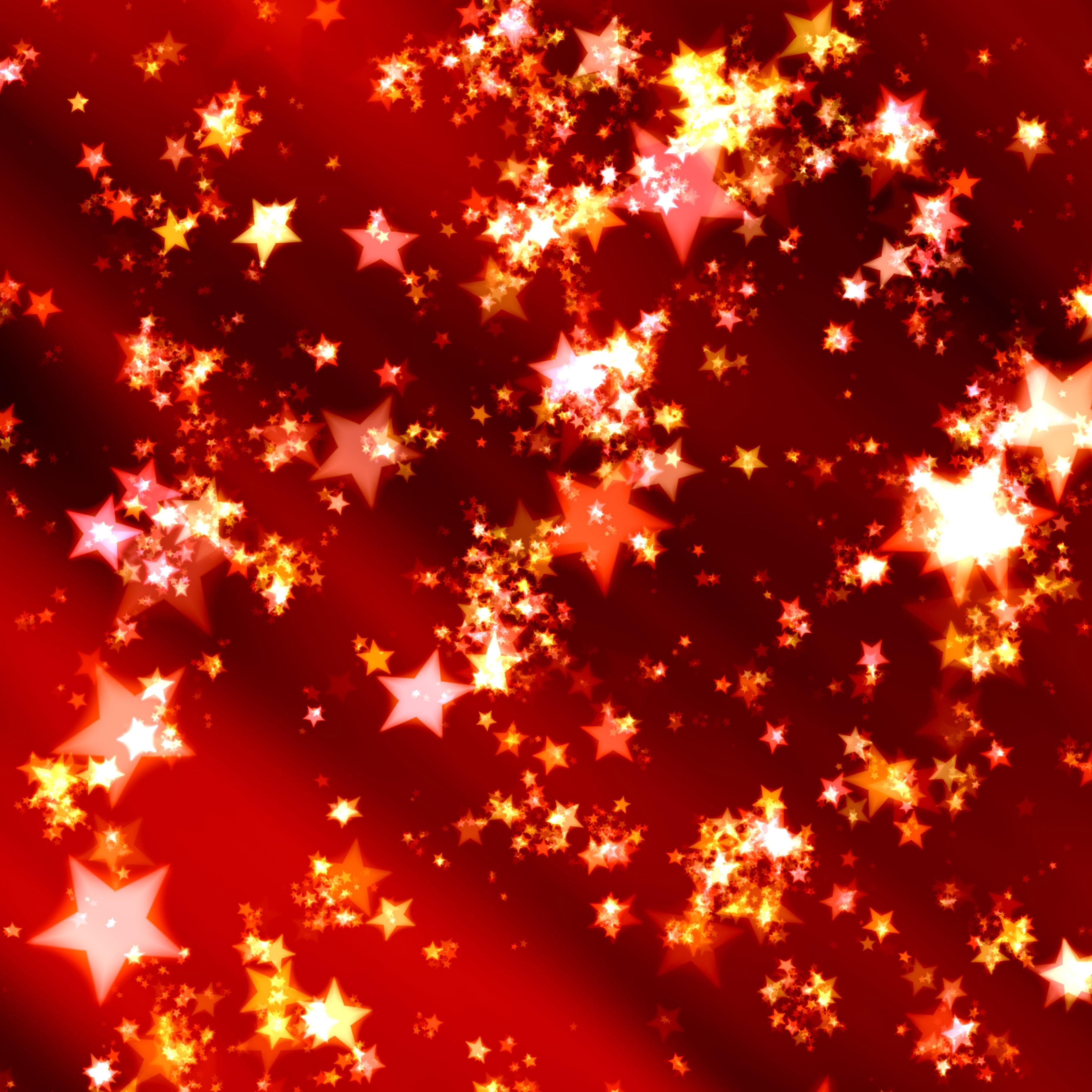 Red Stars Background 35 Stars at Xmas Backg...
