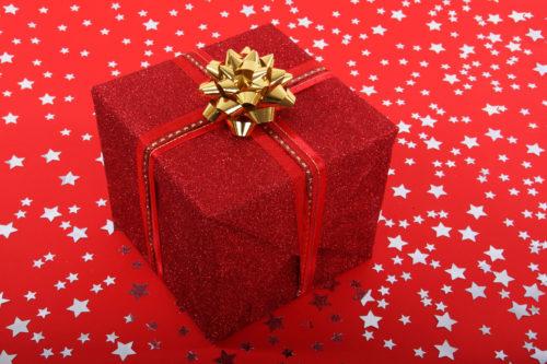 red christmas present image