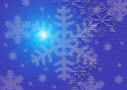 snowflake christmas card or wallpaper