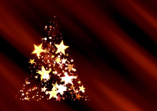 star christmas tree background image