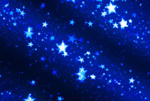 starfield in blue
