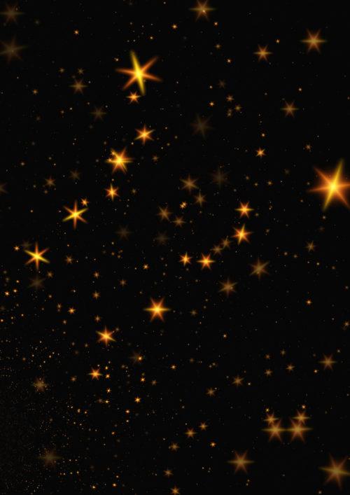 yellow stars on black